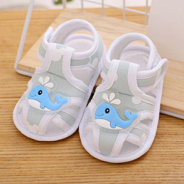 Baby Girl Boy Summer Soft Sole Shoes Sandals Cartoon Elephant Pattern Shoes GN