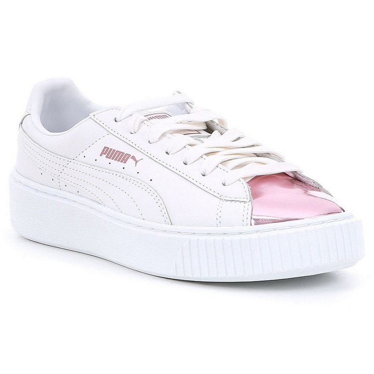 b736f19d352 ... best sneakers 7a4eb e1ffd Authentic Puma Basket Platform Metallic  womens leisure sandals 366169-04- ...