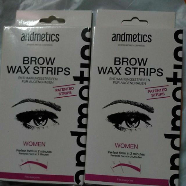 ANDMETICS Brow Wax Strips (4 Pairs + 4 Oil Wipes) | Shopee Malaysia