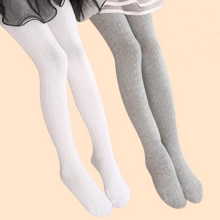 Toddler Pantyhose Stocking Kids Cotton Warm Tights Knitted Thick Solid