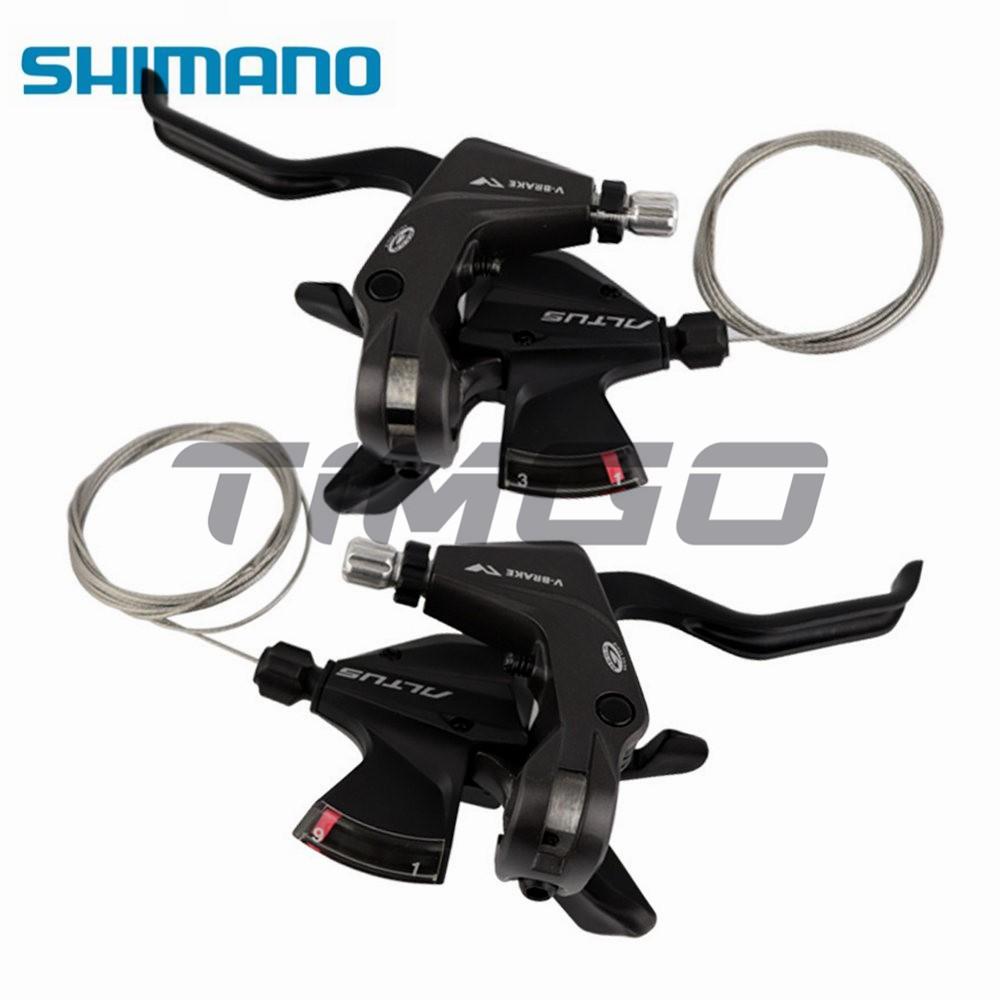 Shimano Altus ST-M370 Bike MTB Bike Shifter V-Brake Levers Set 3 x 9 Speed BLACK