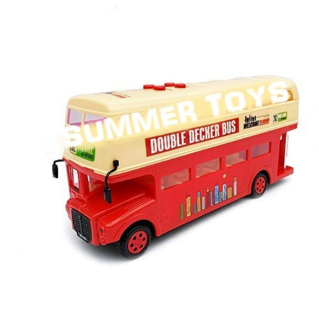 1:16 Scale Storytelling Double Decker Bus With Sound and Light Song Poetry Toys for Double decker bus Electric learning