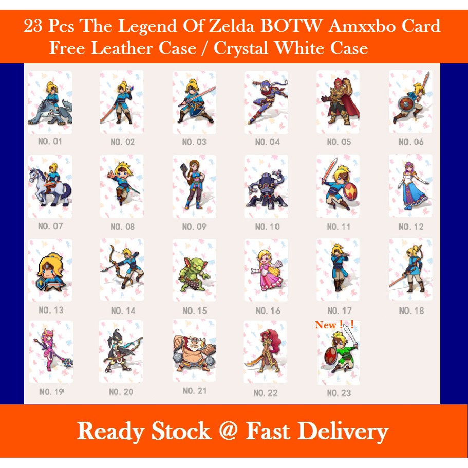 23 Pcs Zelda NFC Tag Cards For NS Switch