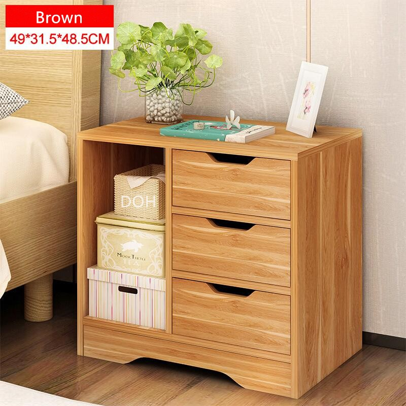 Modern Wood Home Hotel Bedroom Bedside Table Night Table Nightstand File  Storage Cabinet Drawer Beside Bed