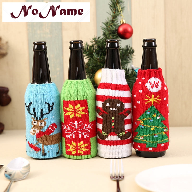 e3119c2d6a ProductImage. ProductImage. NN- Christmas Wine Bottle Cover Knitted Bag  Xmas Party Dinner Table Decoration