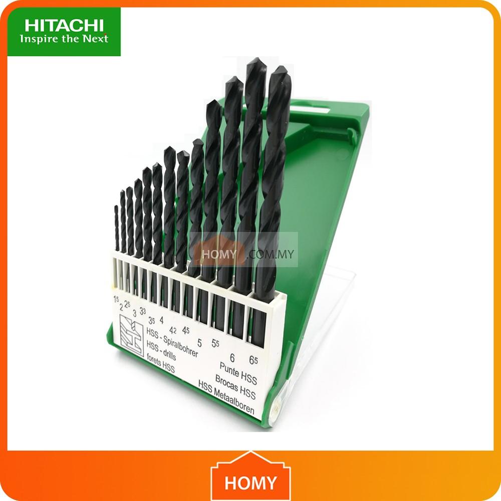 Red Pro Metal HSS-G Drill Bit Set 13 Pieces In Storage Case 1.5mm 6.5mm