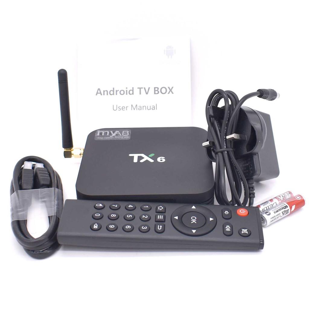 Pre install 10k Movies Channels TX6 4GB 32GB 64GB Smart Android TVBox tv  box IPTV free trial