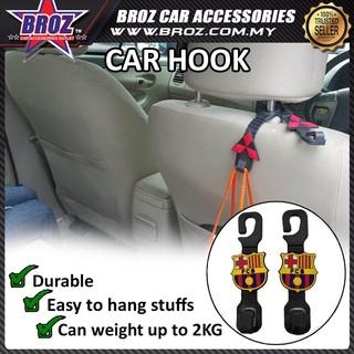 3137323ac Broz 2Pcs/set FCB Car Back Seat Headrest Hooks Hanger Holder For Bag |  Shopee Malaysia