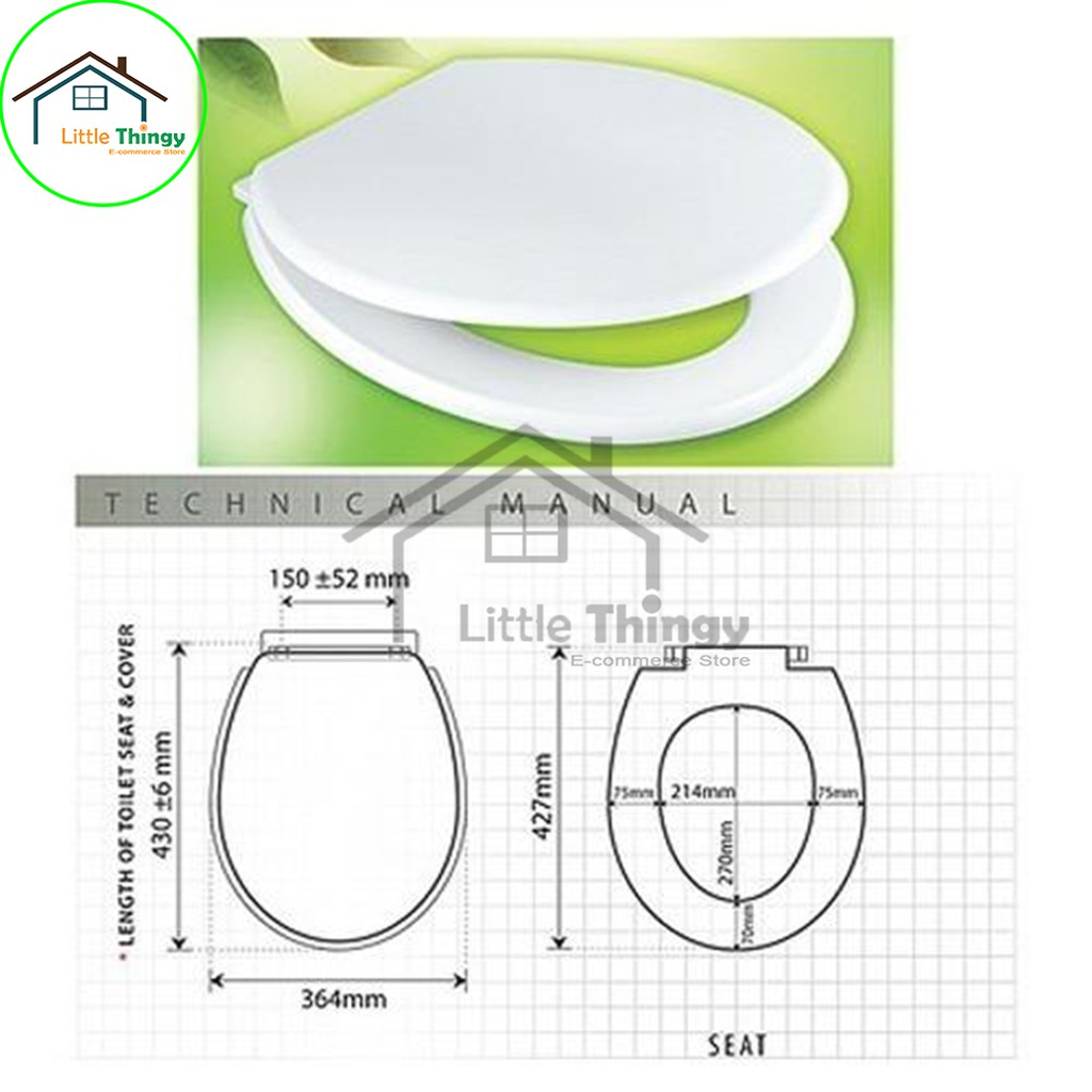Astonishing Techplas Toilet Bowl Toilet Seat Cover White Littlethingy Machost Co Dining Chair Design Ideas Machostcouk