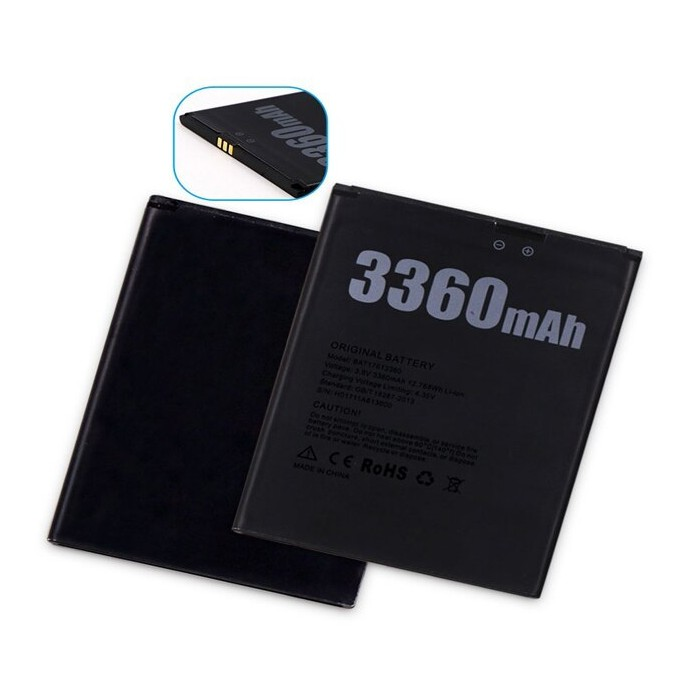 DOOGEE X30 Battery 3 8v 3360 mAh BAT17613360