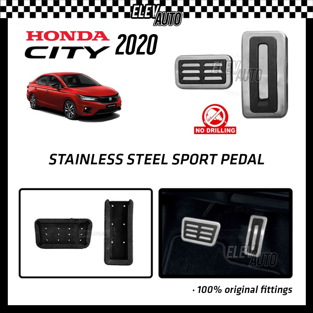 Honda City 2020-2021 Stainless Steel Sport Pedal with Anti-slip Rubber