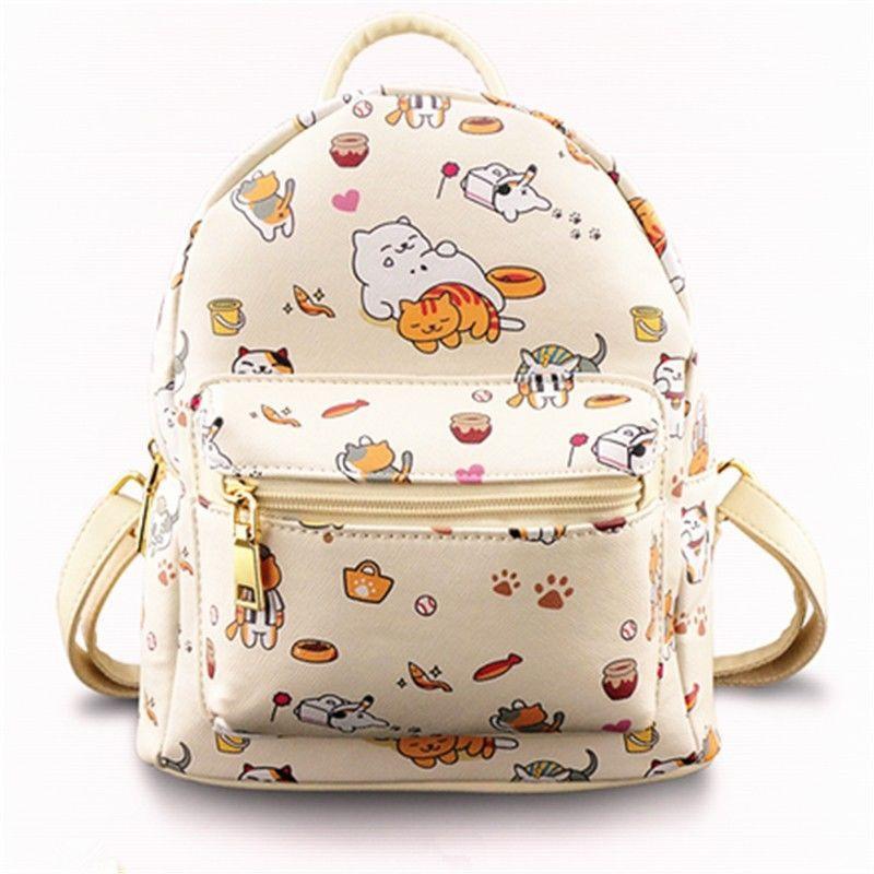 Game Neko Atsume Backpack Cat Backyard Anime Shoulder Bag School Messager  Bag  0b96e07be033c