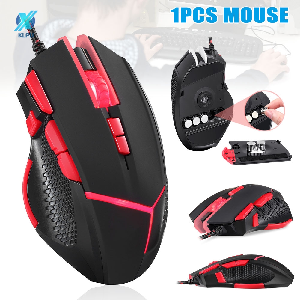 USB Port Ergonomic Design Wired Gaming Mouse Colorful Lighting Pc Optical Mouse 4200 Dpi Adjustment Computer 7-Button Button for Laptop