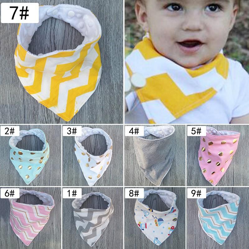 Toddler Kids Baby Girls Boys Feeding Saliva Towel Dribble Triangle Bandana Bibs