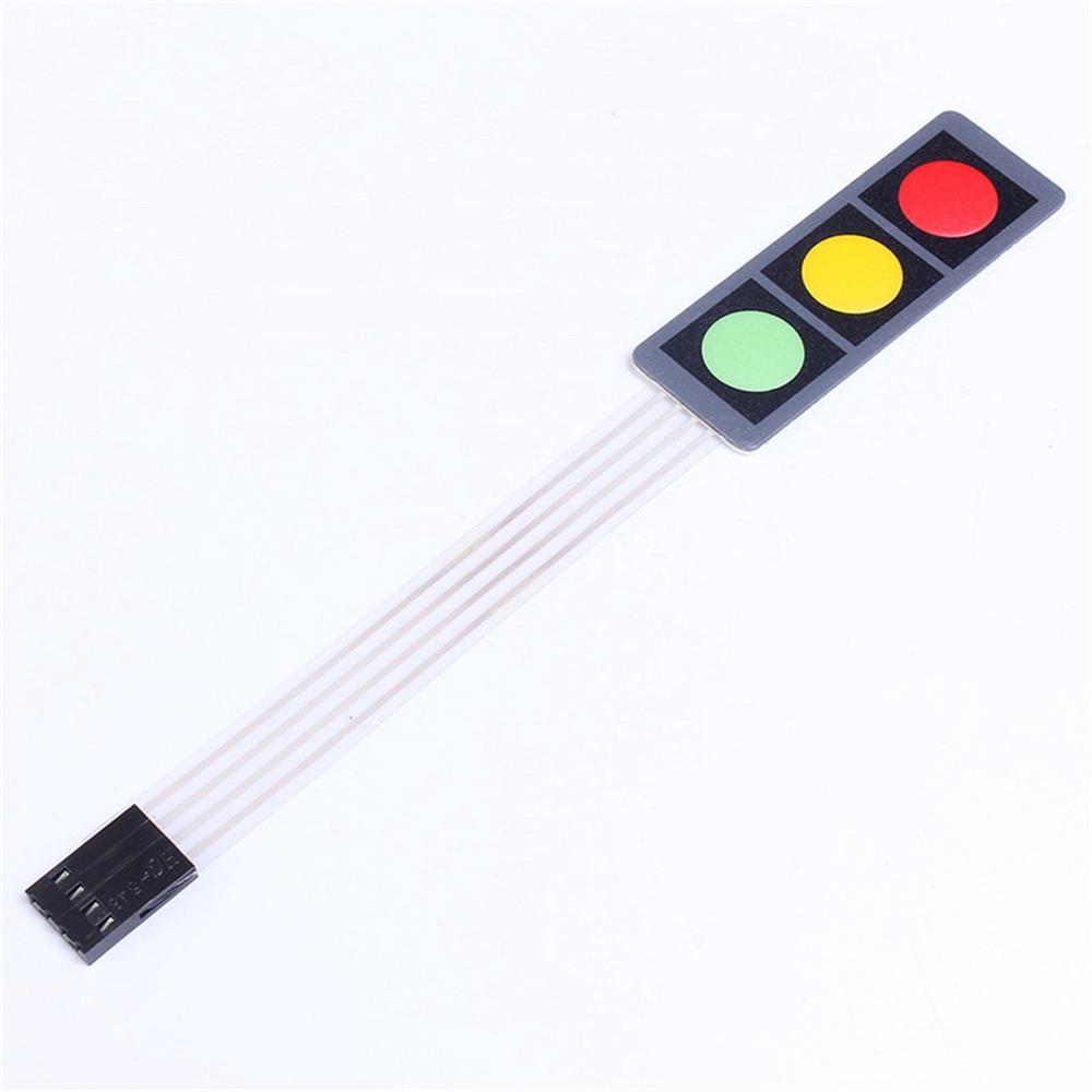 10PC Matrix Array 3Key Red//Green//Yellow Membrane Switch Keypad Keyboard 1*3 Keys