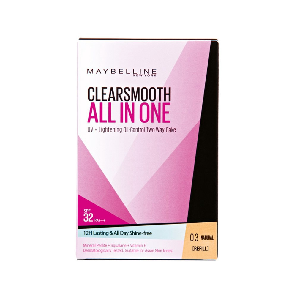 Maybelline All In One Two Way Cake Natural Shopee Malaysia Wardah Lightening Light Feel Best Price Ever