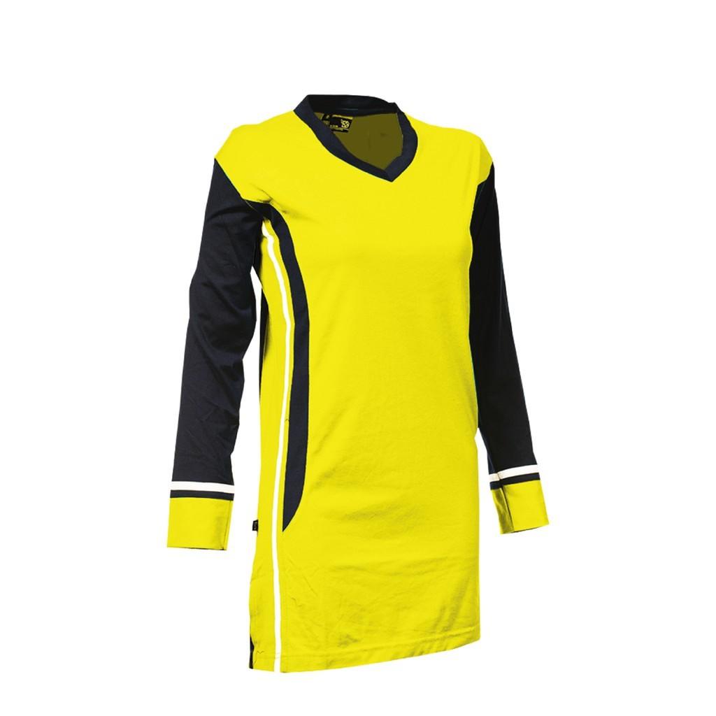 【100% Original】ARORA SPORTS Ladies Muslimah Cotton - Red / Yellow - (MWC 13 - 14)
