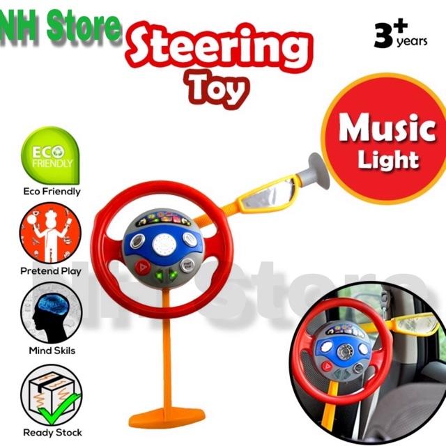 Kids Car Steering Backseat Driver Wheel Pretend Play / Steering Kereta Budak <NH Store