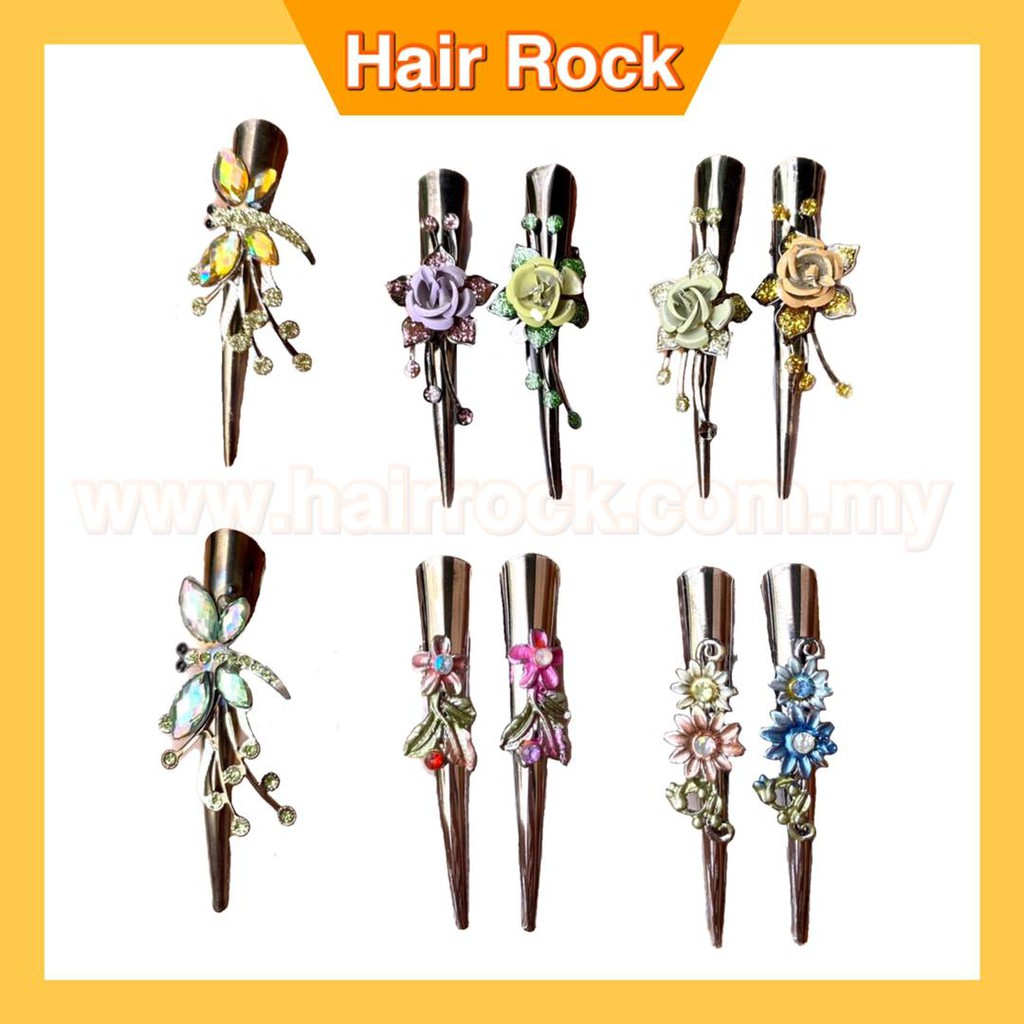 Set of 4 Flower Alligator Clips