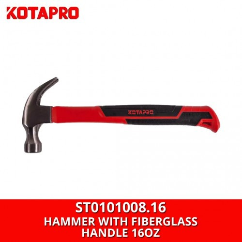 Kotapro ST0101008.16 Claw Hammer with Fiberglass Handle 16OZ