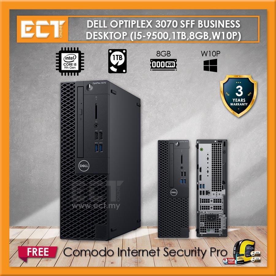 Dell Optiplex 3070 SFF Small Form Factor Business Desktop (i5-9500 4.40Ghz,1TB,8GB,W10P)