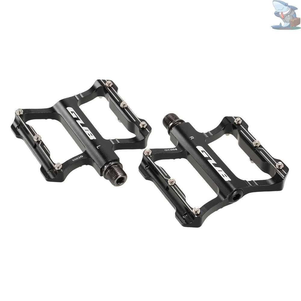 "Cycling Bike Aviation Aluminum Bicycle Pedals 9//16/"" Axle Foot Tread 4-Colors"