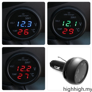 Car Battery Voltmeter With Led Indicator
