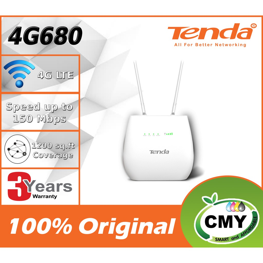 TENDA New 4G680 V2 4G LTE Wireless WiFi Modem Router SIM Can Voice Call voLTE N300 Wi-Fi 4G LTE Router