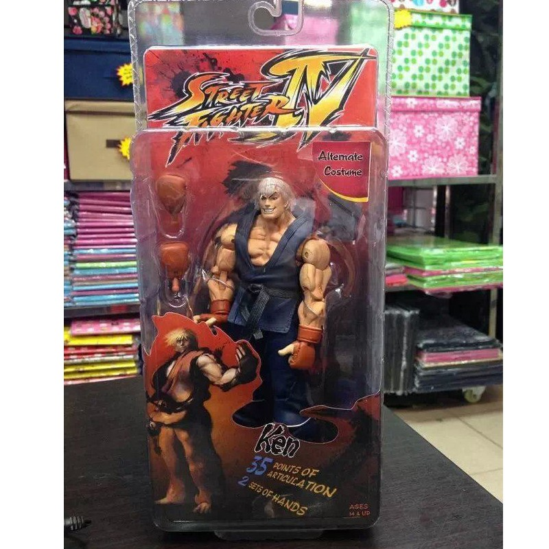 NECA White Ryu 7/'/' Action Figure Toy Street Fighter IV SELLER U.S.A