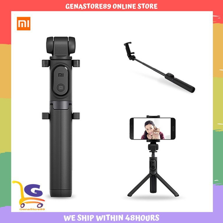 Original Xiaomi Selfie Stick Bluetooth Foldable Tripod with Wireless  Shutter for iPhone & Android - Black