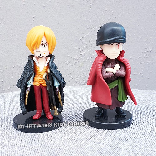 9Pcs Anime One Piece 2 Year Theatrical Version Luffy Sanji Roronoa Zoro Chopper Action Figure Toys for Boys