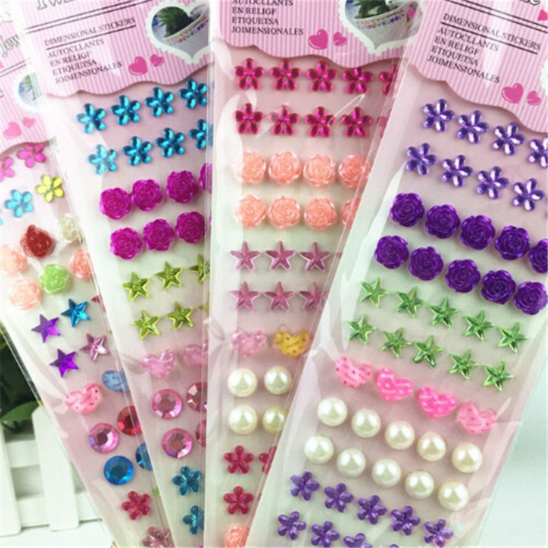 Adhesive Glitter Crystal Gems Jewels Sticker Diamond Rhinestones Strip  e150190c4521