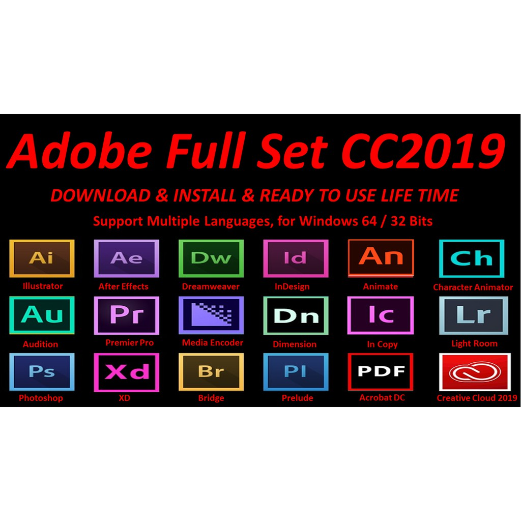 RM2 Sales Adobe All in One Bundle Creative Cloud CC 2019