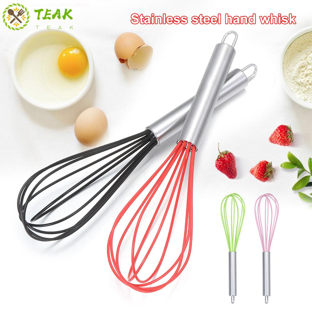 Home Kitchen Egg Beater Silicone Steel Whisk Mixer Balloon Wire Cookware