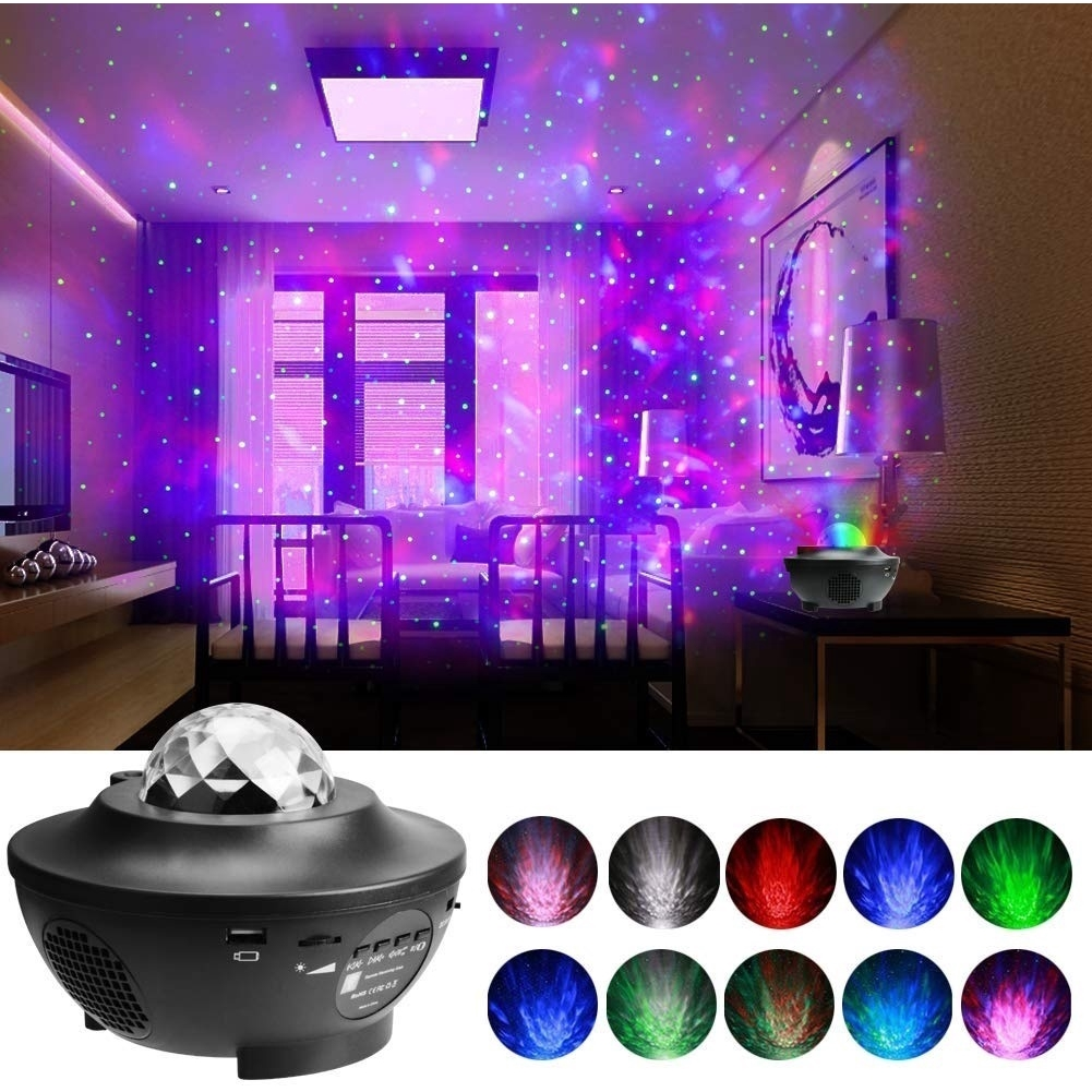 Mini Car USB Atmosphere Ambient RGB Light interior LED Decorative Projection 2H
