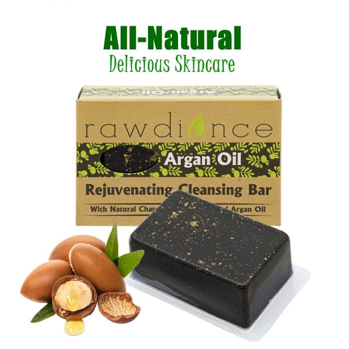 Rawdiance Rejuvenating Cleansing Bar Argan Oil Body Soap Facial Soap SkinCare