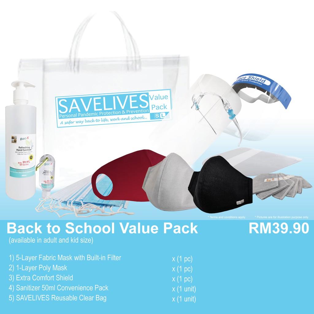 SAVELIVES Value Pack Washable Mask