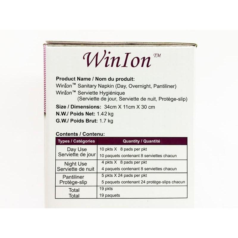 [Genuine] Winalite Winion Sanitary Pads Dynamic Mix Box With Anion Stripe (Exp 2022) 月月爱 [FREE Bag]
