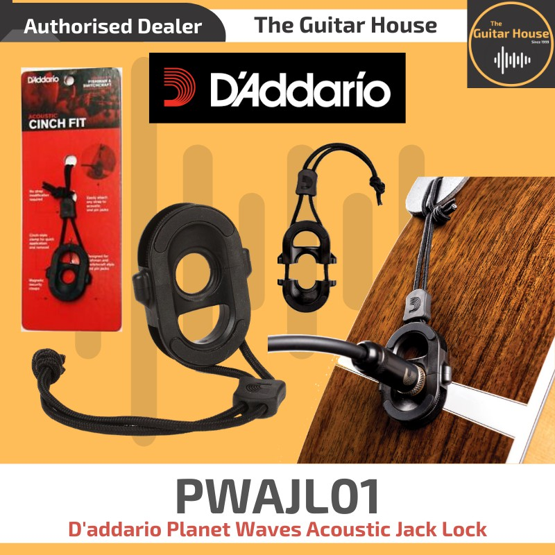 Planet Waves PW-AJL-01 Cinchfit Acoustic Jack Lock ideal for Electro Acoustic/'s