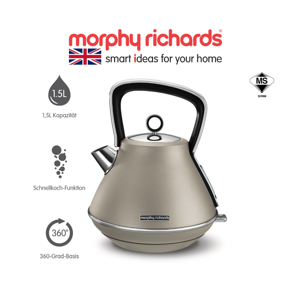 [NEW ARRIVAL] Morphy Richards Accents Pyramid Kettle Platinum 100103