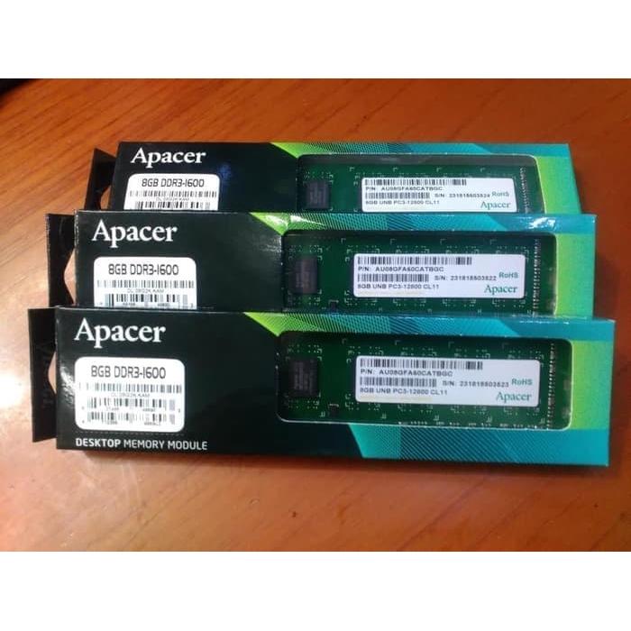 Apacer 8GB DDR3 1600mhz Desktop Ram