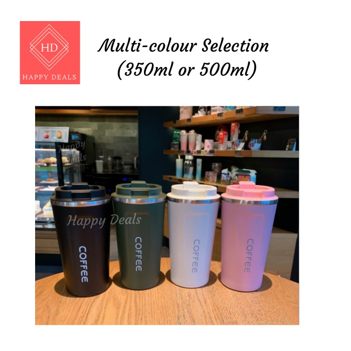 500ML Insulated Tumbler Coffee Travel Mug Vacuum Insulated Coffee Thermos Cup Stainless Steel with Screw on Lid