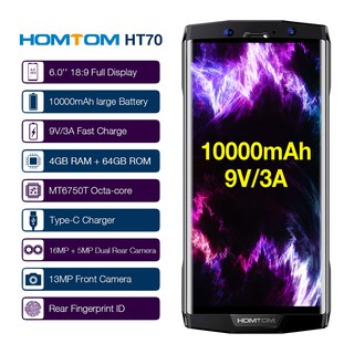Ready Stock🔥 HOMTOM HT70 10000mAh Mobile Phone 6-Inch 4GB RAM 64GB ROM MTK6750T