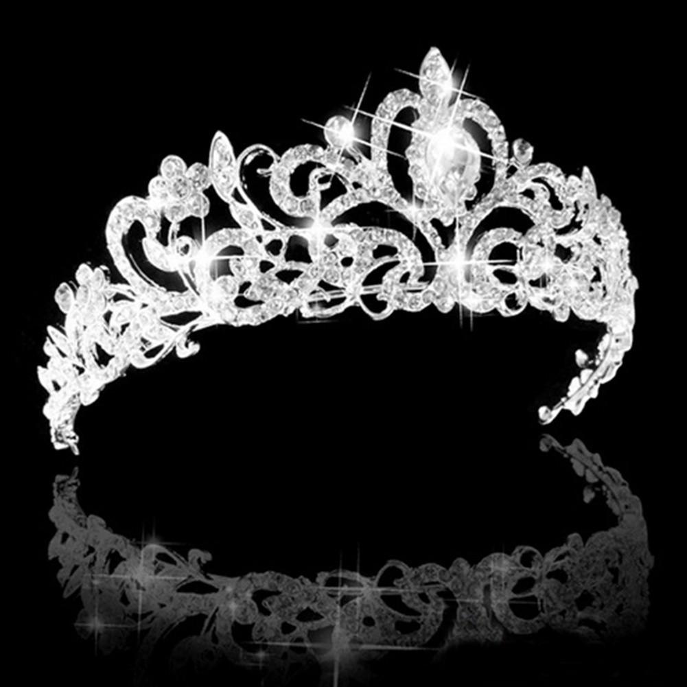 1Pcs Fashion Wedding Hair Crystal Pearl Flower Barrettes Bridal Tiara and  Crown  60d56e23556a