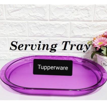 Tupperware Purple Royale Crystalline Serving Tray Drinking Set, Cake, Dessert ,Kuih Server