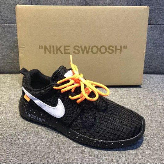 Original Nike off white London men&women sport running shoes black
