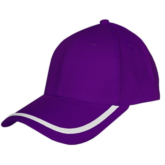 [READY STOCK] Unisex 6 Panels Cotton Brush Piping Caps - 8 Colors