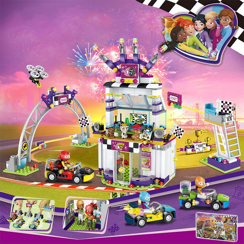 Good friend Speed Champions Girl Big Racing Day Compatible Lego Toys Kids  Gifts