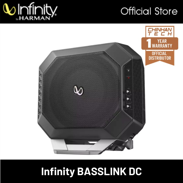 """Infinity BassLink DC Powered subwoofer with 200-watt amp and 10"""" suB"""