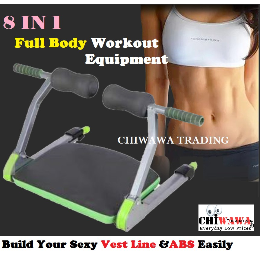 8in1 Six Packs AB Machine Gym Abs Workout Exercise Abdominal Fitness Wonder Core